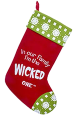 Kurt Adler Christmas Stocking In Our Family I'm the Wicked One - G