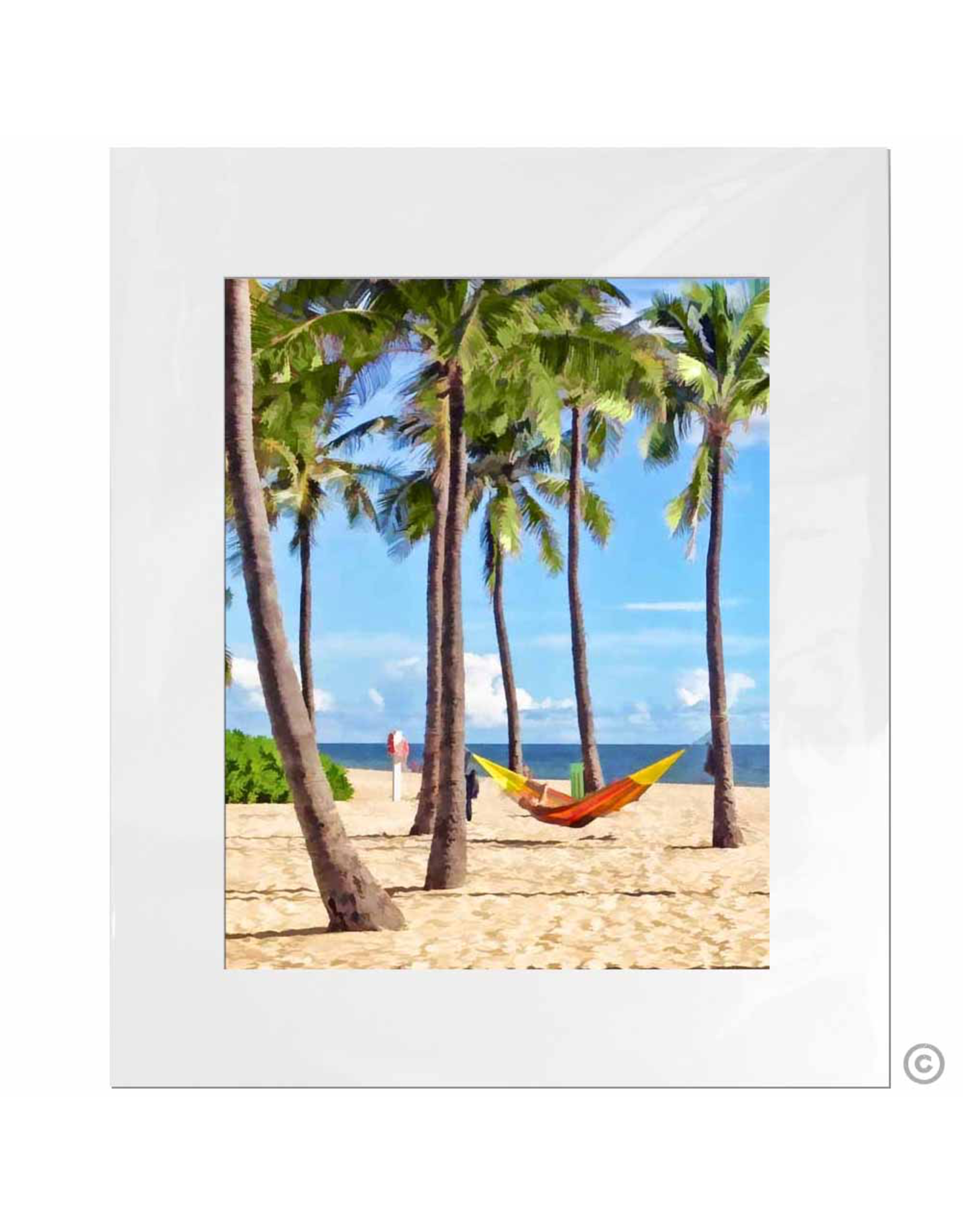 Maureen Terrien Photography Art Print Hammock 11x14 - 8x10 Matted