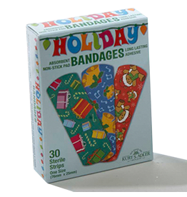 Kurt Adler Christmas Bandages 30pk Stocking Stuffers