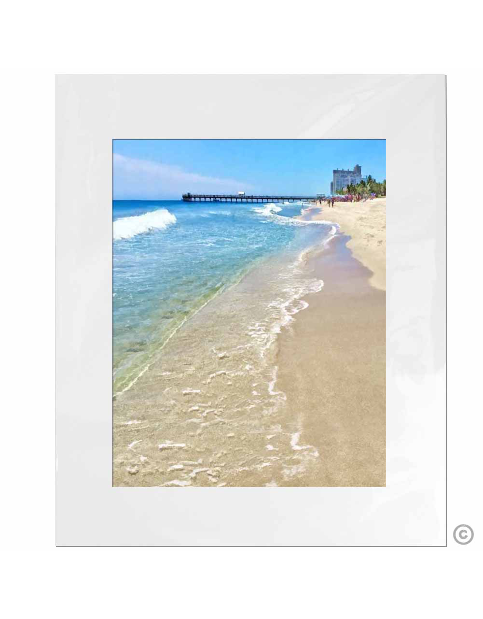 Maureen Terrien Photography Art Print Shoreline 11x14 - 8x10 Matted