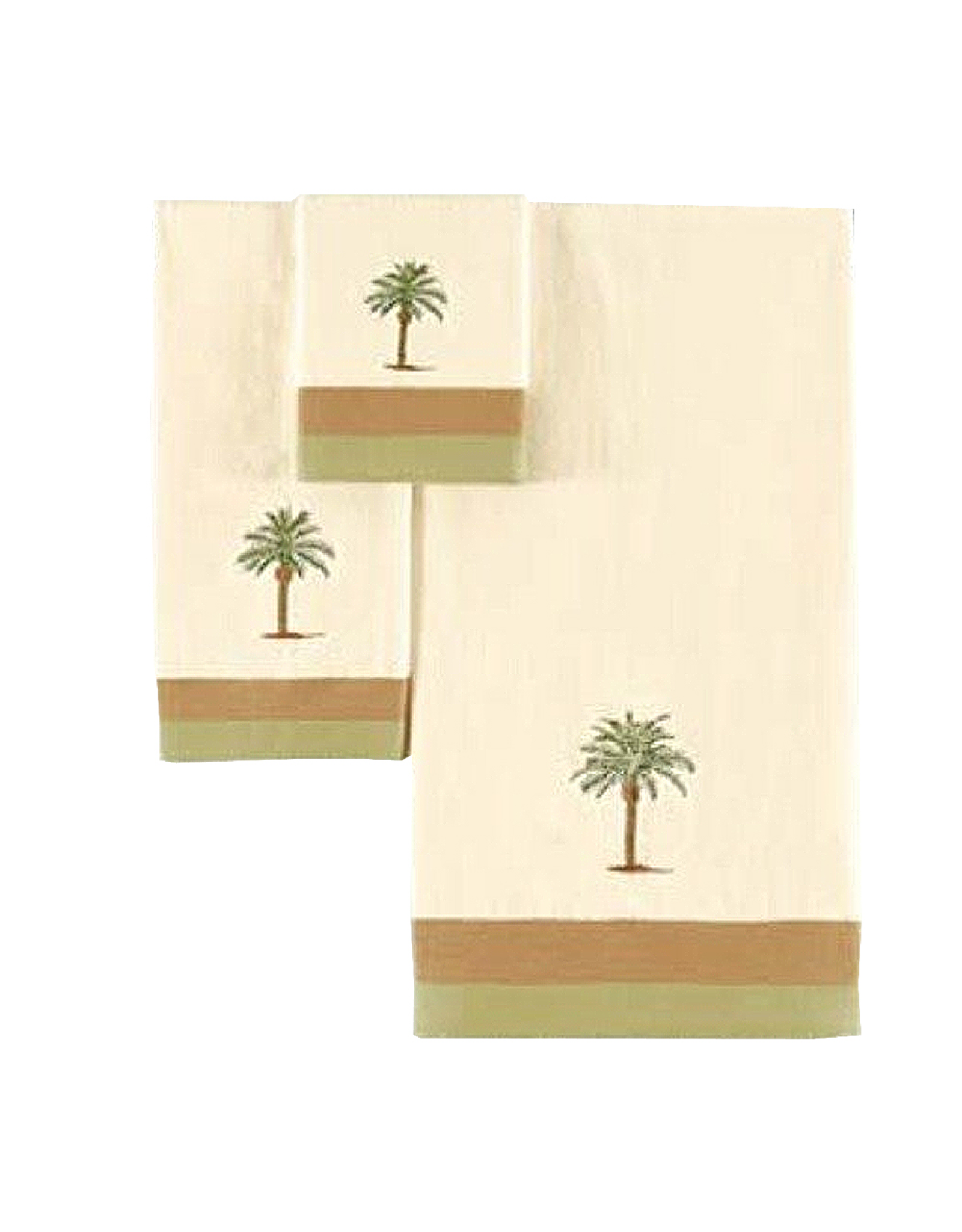 C & F Enterprises Cabana Palm Tree Bath Towels Set of 3 Bath Hand n Tip