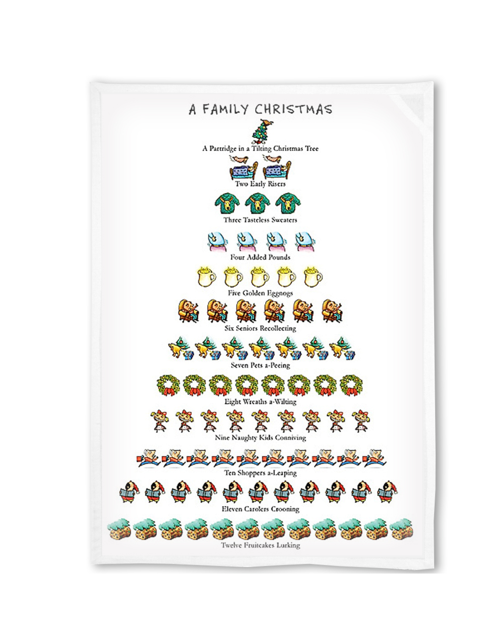 Peking Handicraft A Family Christmas 12 Days Of Christmas Towel Kitchen Tea