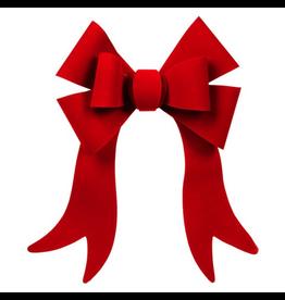 Darice Christmas Bow Red Velvet PVC Bow 6 Loop 12x16 inch