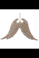 Kurt Adler Angel Wings Glittered Christmas Ornament 6.5 inches J8955