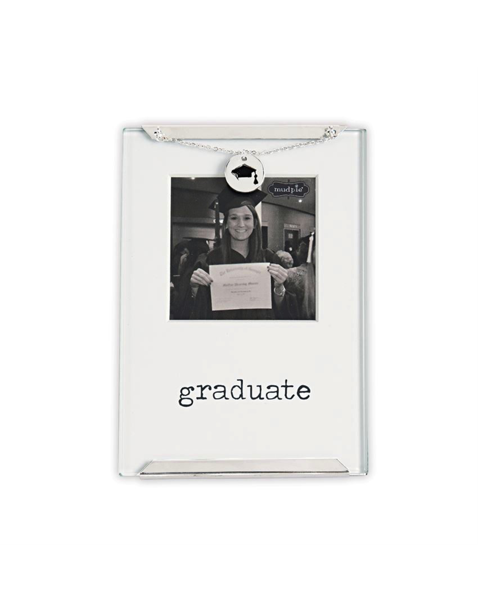 Mud Pie Graduation Graduate Glass Clip Frame With Charm