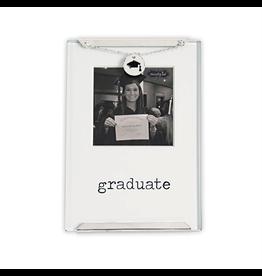 Mud Pie Graduation Graduate Glass Clip Frame With Charm