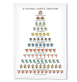 Peking Handicraft Football Lovers 12 Days of Christmas Kitchen Tea Flour Sack