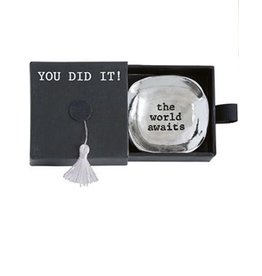 Mud Pie Mini Graduation Trinket Dish in Tassel Gift Box - World