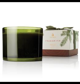 Frasier Fir Candle 3-Wick 17 Oz Green Glass