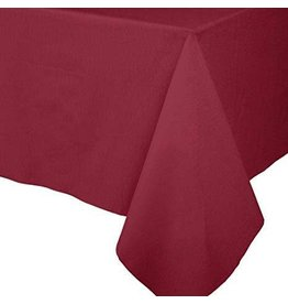 Caspari Paper Linen Solid Table Covers In Cranberry