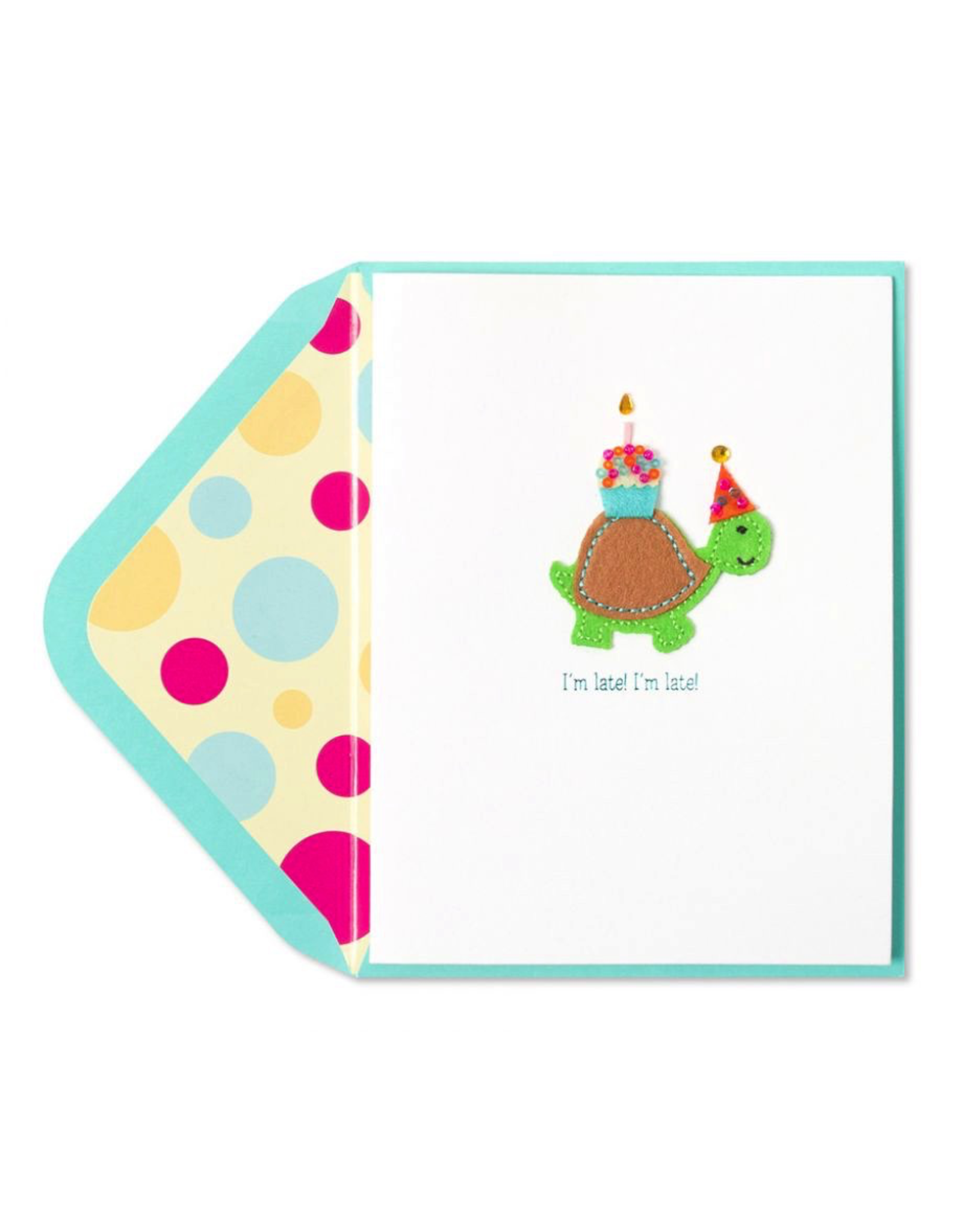 PAPYRUS® Belated Birthday Card Late Turtle w Cupcake