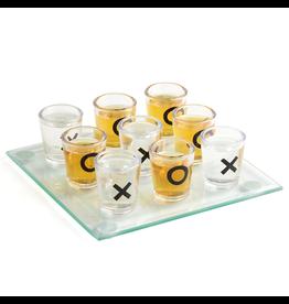 Twos Company Mini Shot Glass Tic Tac Toe w Game Board Gift Set