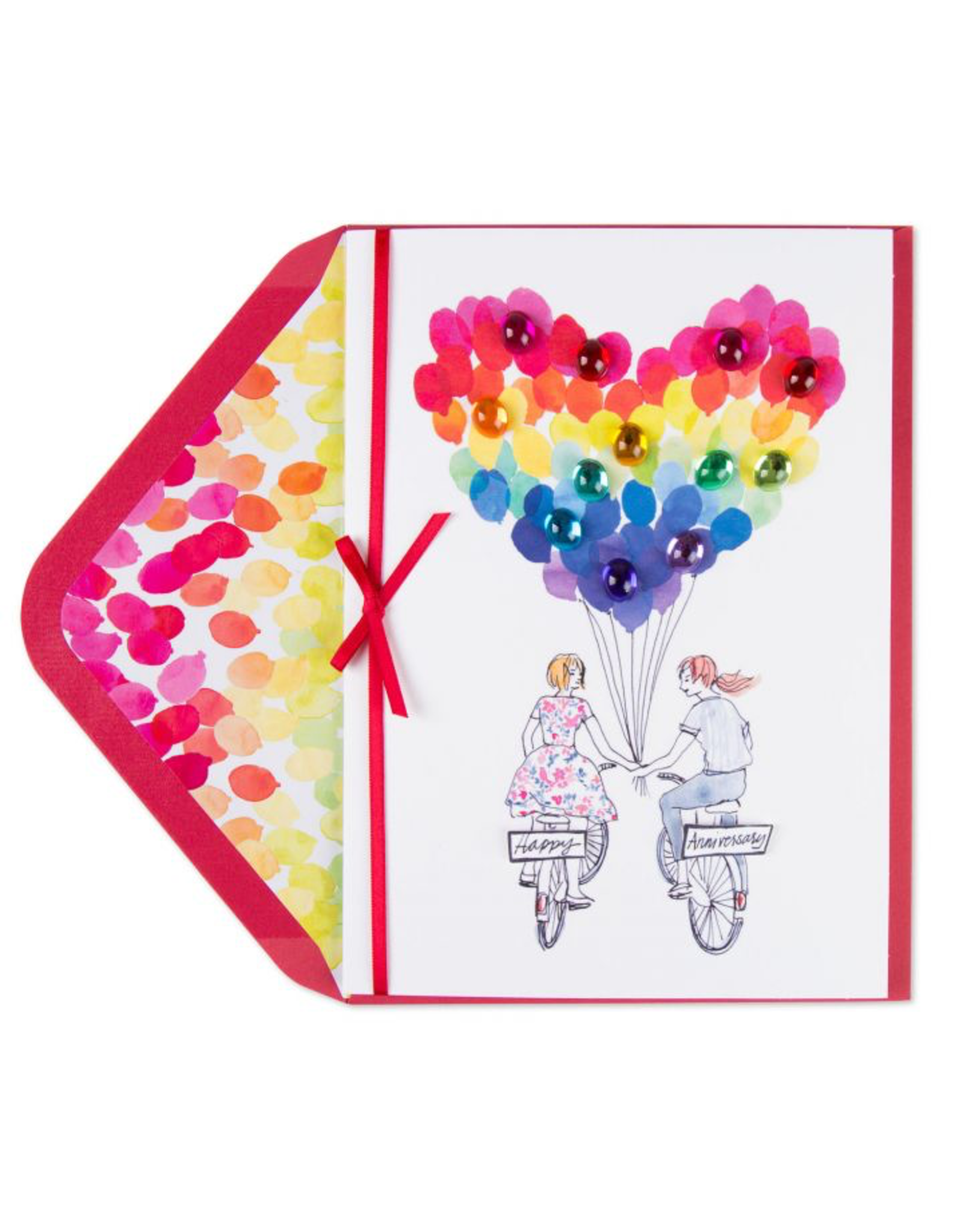 PAPYRUS® Anniversary Card Lesbian Mrs Mrs Bicycle Girlfriends
