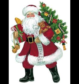 Caspari Ornament Gift Tags 4pk Christmas Lynn Haney Santa