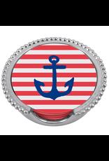 Mariposa Beaded Coaster Holder Set w Anchor Coasters
