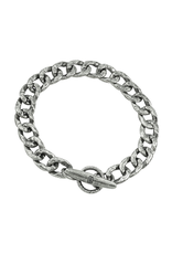 Waxing Poetic® Jewelry Boat Cleat Chain Bracelet Mens LG -Sterling Silver
