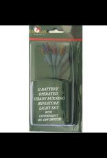 Kurt Adler Battery Operated Miniature 12 Light Set Multi Color Lights