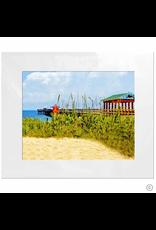 Maureen Terrien Photography Art Print PIer and Grass 11x14 - 8x10 Matted