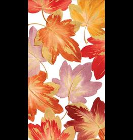 Caspari Fall Thanksgiving Paper Guest Towel Napkins 15pk Fallen Leaves