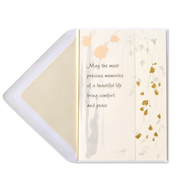 PAPYRUS® Sympathy Card Comfort and Peace Cascading Leaves