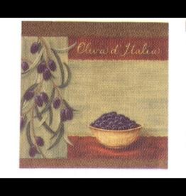 Jason Olive Bowl Serviettes-Paper Lunch Napkins 20PK