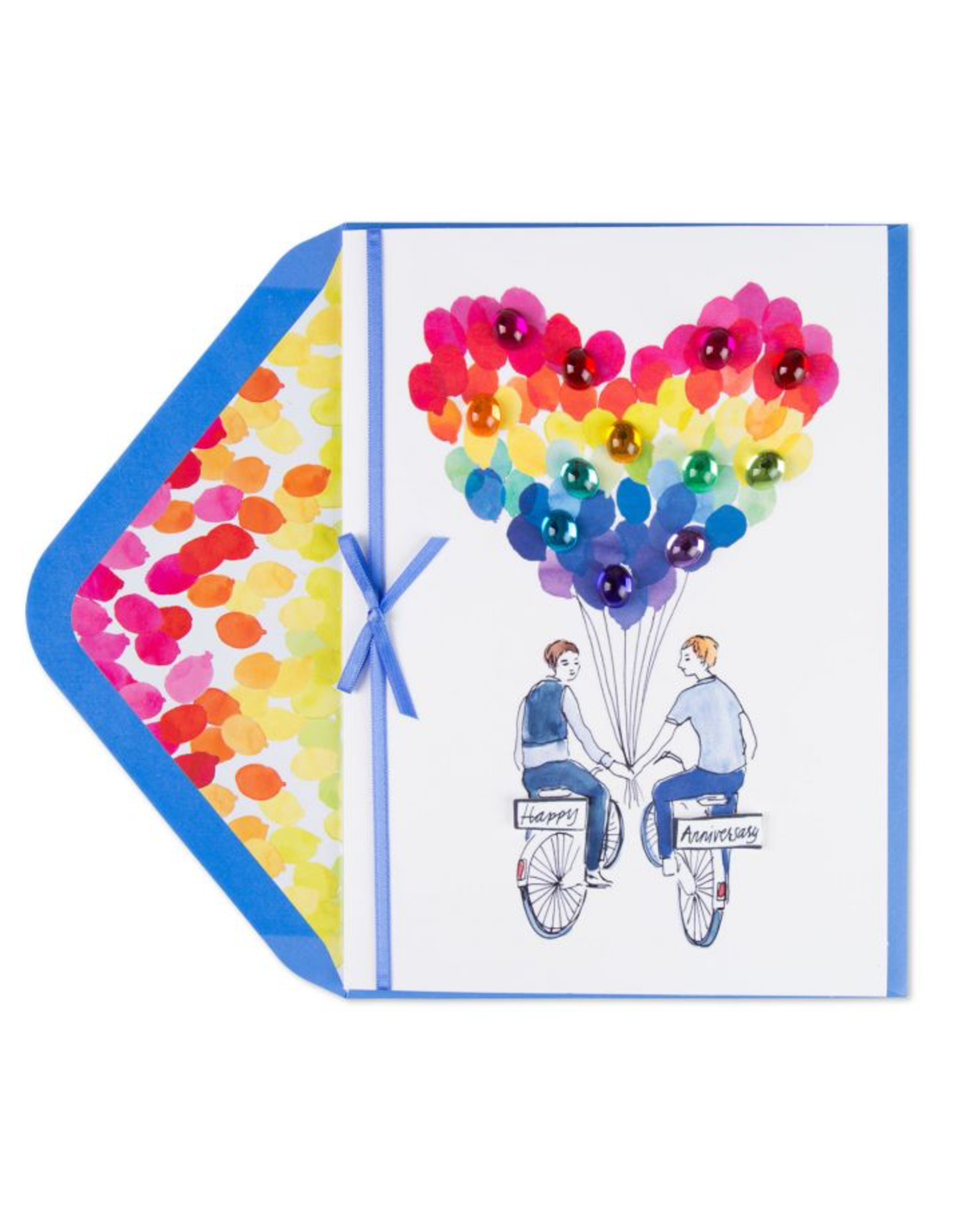 PAPYRUS® Anniversary Card Gay Mr Mr Bicycle Boyfriends Bikes