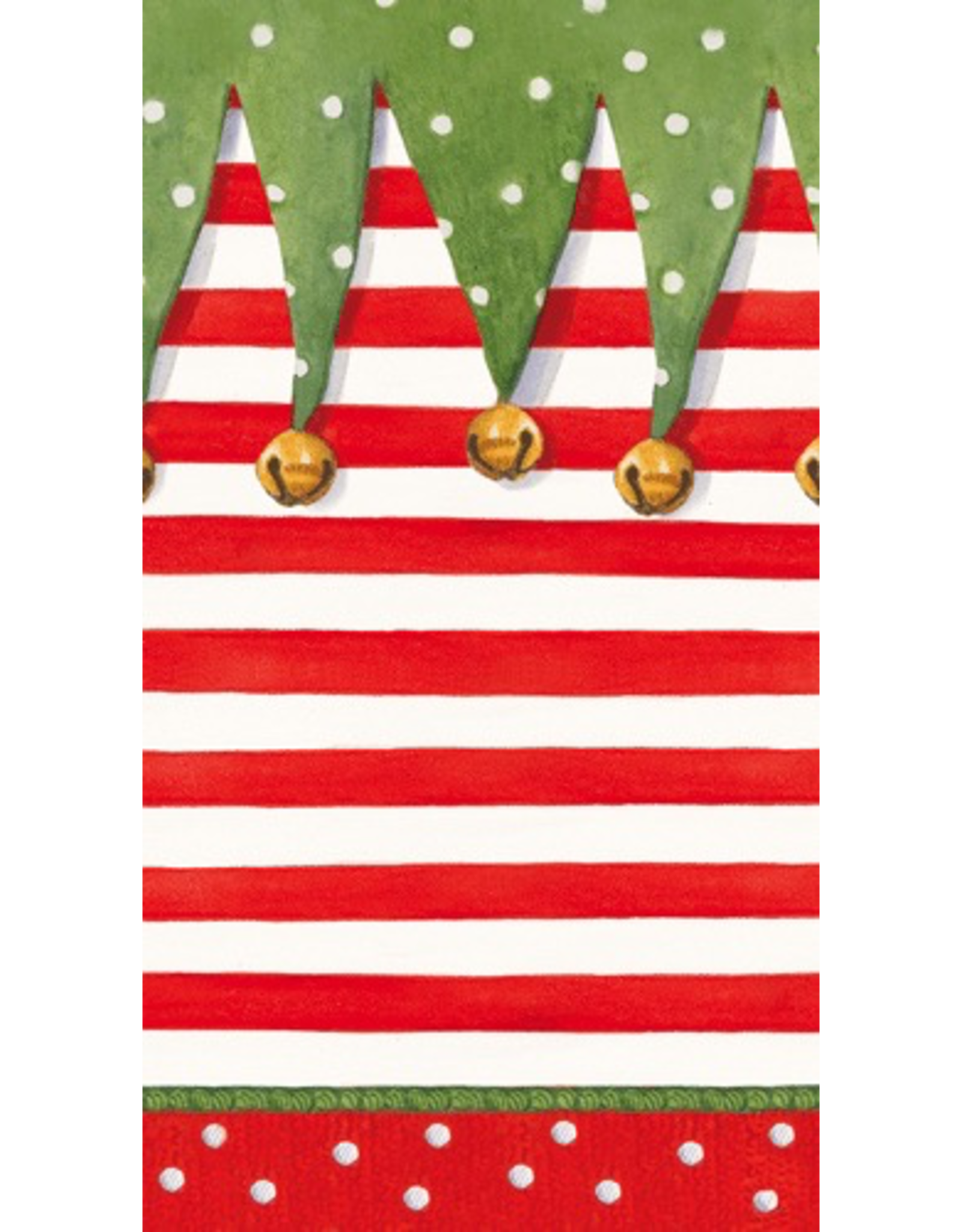 Caspari Christmas Paper Guest Towel Napkins 15pk Stocking Stipes