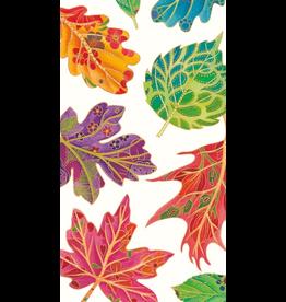 Caspari Fall Thanksgiving Paper Guest Napkins 15pk Jeweled Autumn Fall Leaves
