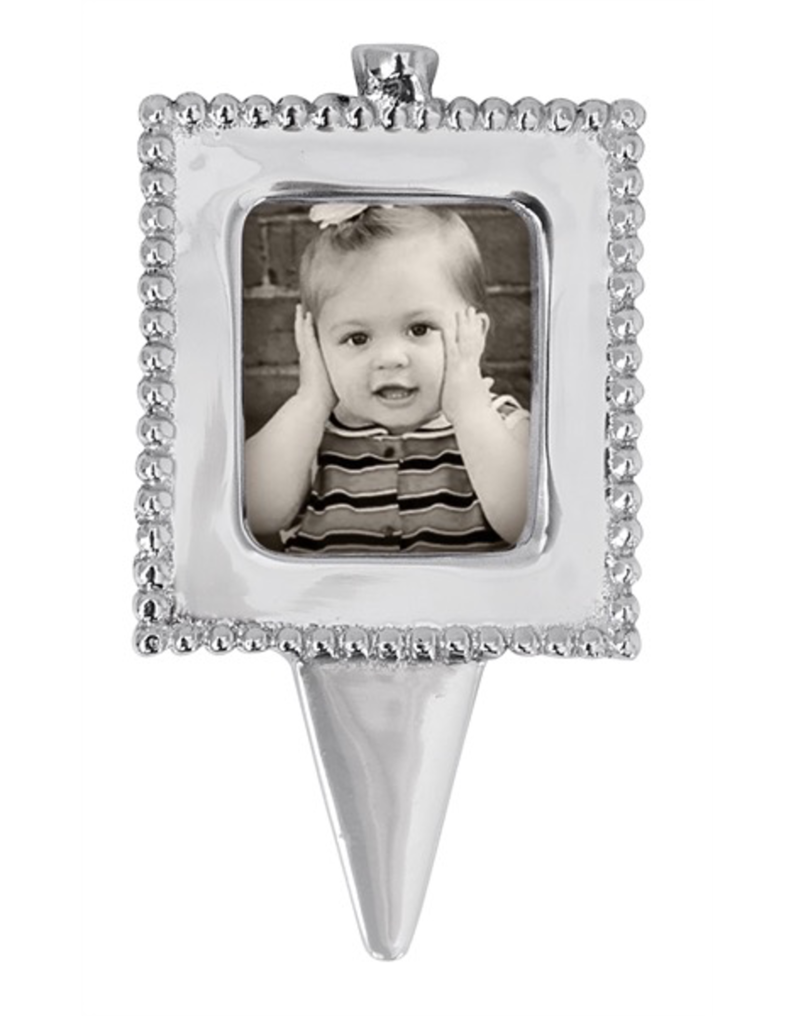 Mariposa Beaded Photo Birthday Candle Holder String of Pearls Collection