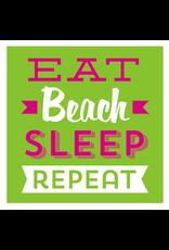 Slant 20ct Eat Beach Sleep Beverage Napkins 20ct  F146731 Slant