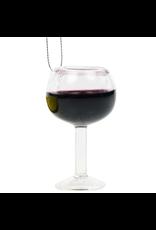 Kurt Adler Burgundy Red Wine Glass Ornament