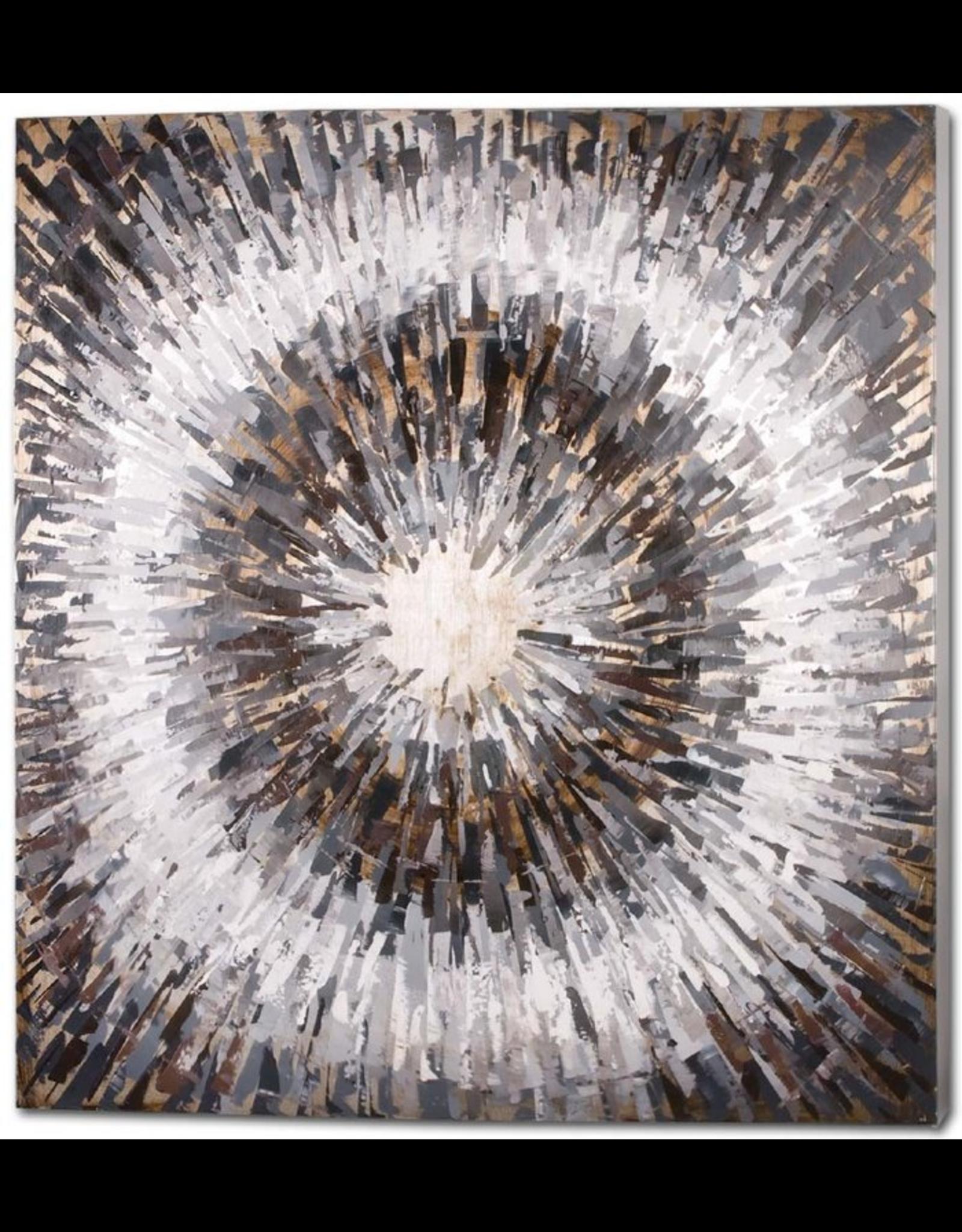 Mercana Abstract Painting Deja vu LG Square Wall Art 47x47