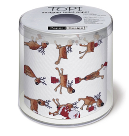 Topi Toilet Paper Christmas Toilet Paper Reindeer and Santa TOPI Designer Toilet Paper