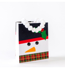 PAPYRUS® Christmas Gift Bag Medium 7x9x4 Felt Snowman