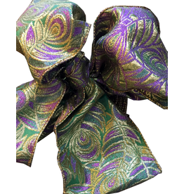 Premier Ribbon Peacock Jacquard Wired Ribbon 4in x 10yd