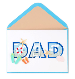 PAPYRUS® Fathers Day Card Dad Beach Letters