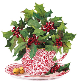 Caspari Christmas Ornament Gift Tags 4pk Christmas Tea
