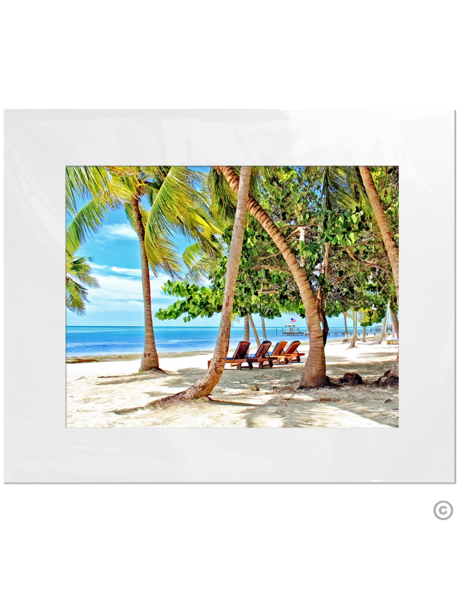 Maureen Terrien Photography Art Print Moorings w Beach Chairs 11x14 - 16x20 Matted