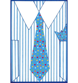 Caspari Fathers Day Card Shirt and Tie