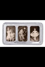 Mariposa Beaded Triple 2x3 Collage Photo Frame