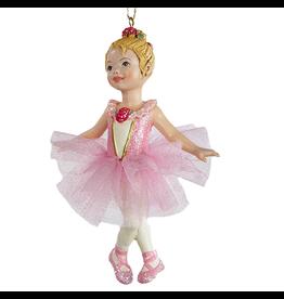 Kurt Adler Ballerina Ballet Girl Ornament Pink -B