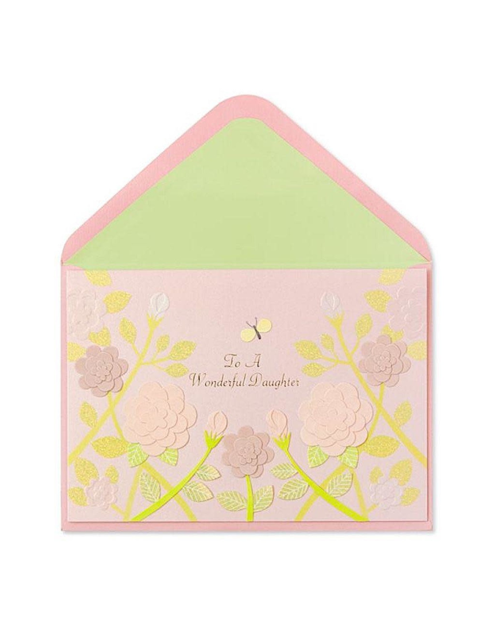 PAPYRUS® Birthday Card For Daughter Pink Roses On Vines