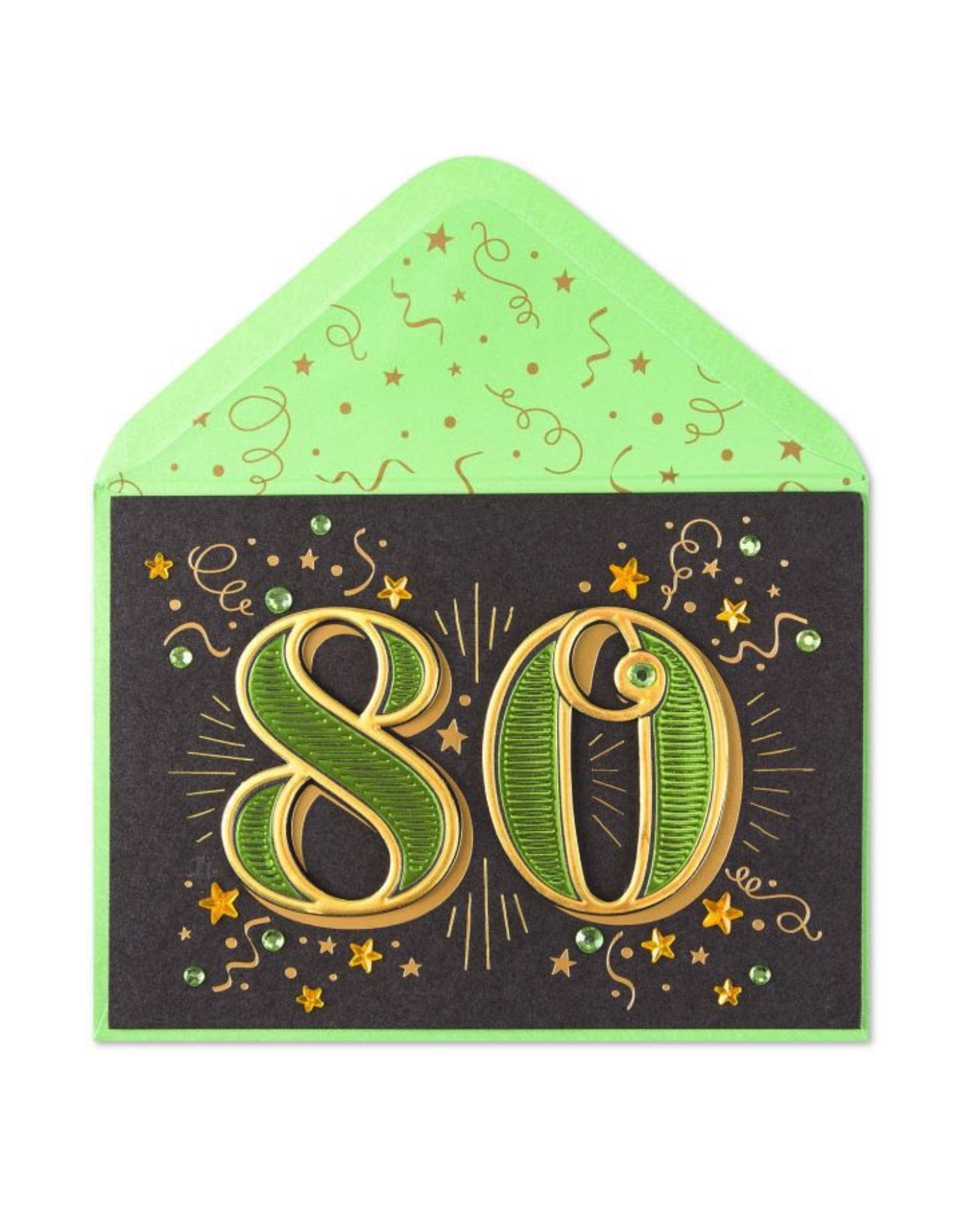 PAPYRUS® Birthday Cards 80th With Stars