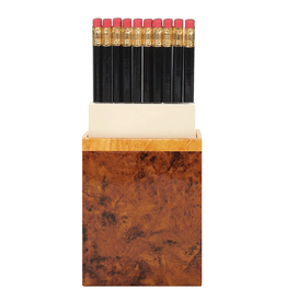 Caspari Pencil Paper Caddy Burl-wood Design Desk Accessories