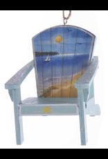 Kurt Adler Adirondack Beach Chair Coastal Christmas Ornament - Blue