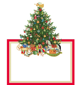Caspari Christmas Place Cards Tent Style 8pk Oh Christmas Tree