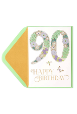 PAPYRUS® Birthday Card 90th Birthday Laser Cut