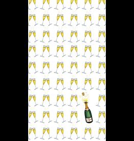 Caspari Paper Guest Towel Napkins 15pk Bubbly Champagne Bottles