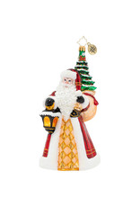 Christopher Radko Santa Leaves The Light On Ornament