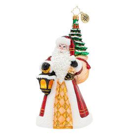 Christopher Radko Santa Leaves The Light On Ornament
